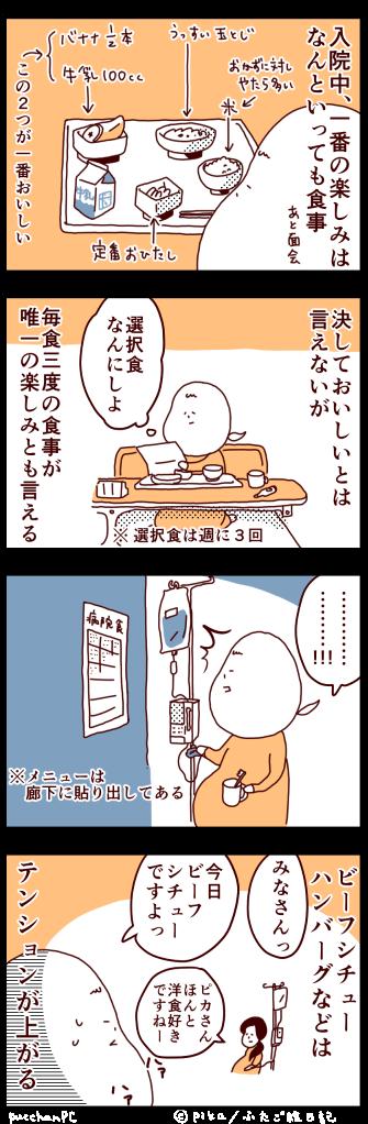 管理入院の思い出食事編