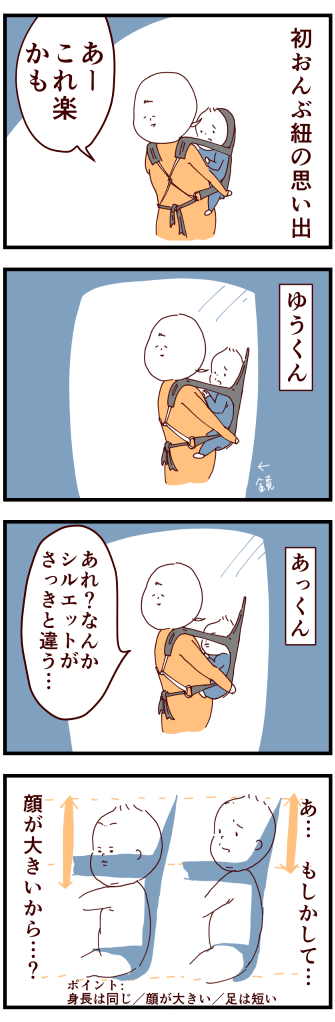 おんぶ紐ふたご絵日記2