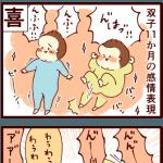 双子11ヶ月の感情表現