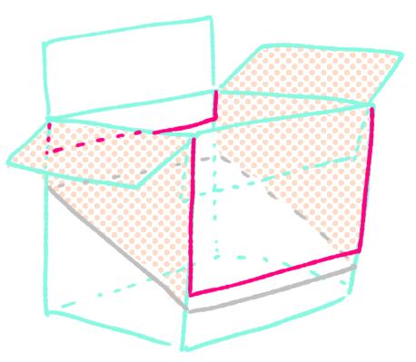 ダンボール絵本棚作り方8