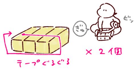 牛乳パックイス組み立て方座面