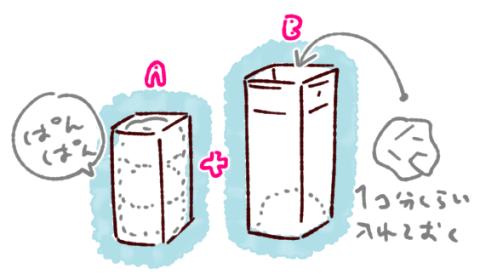 牛乳パックイス背もたれの作り方