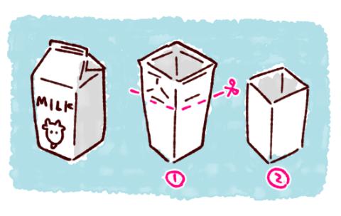 牛乳パック椅子基本