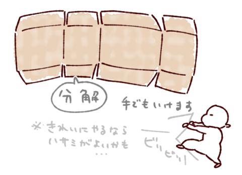 ダンボールハウス作り方分解