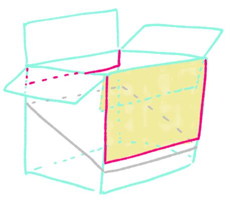 ダンボール絵本棚作り方6