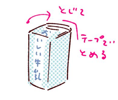牛乳パックイス止め方