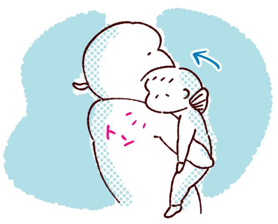 双子寝かしつけ姿勢3